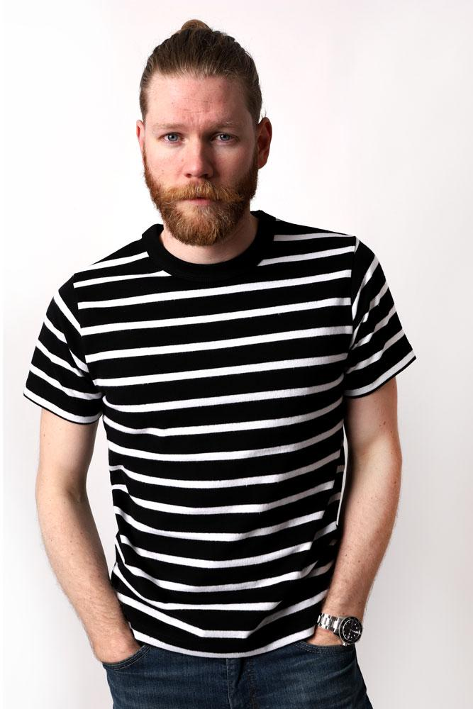 KNIT STRIPED T-SHIRT M - BROOKLYN INDUSTRIES