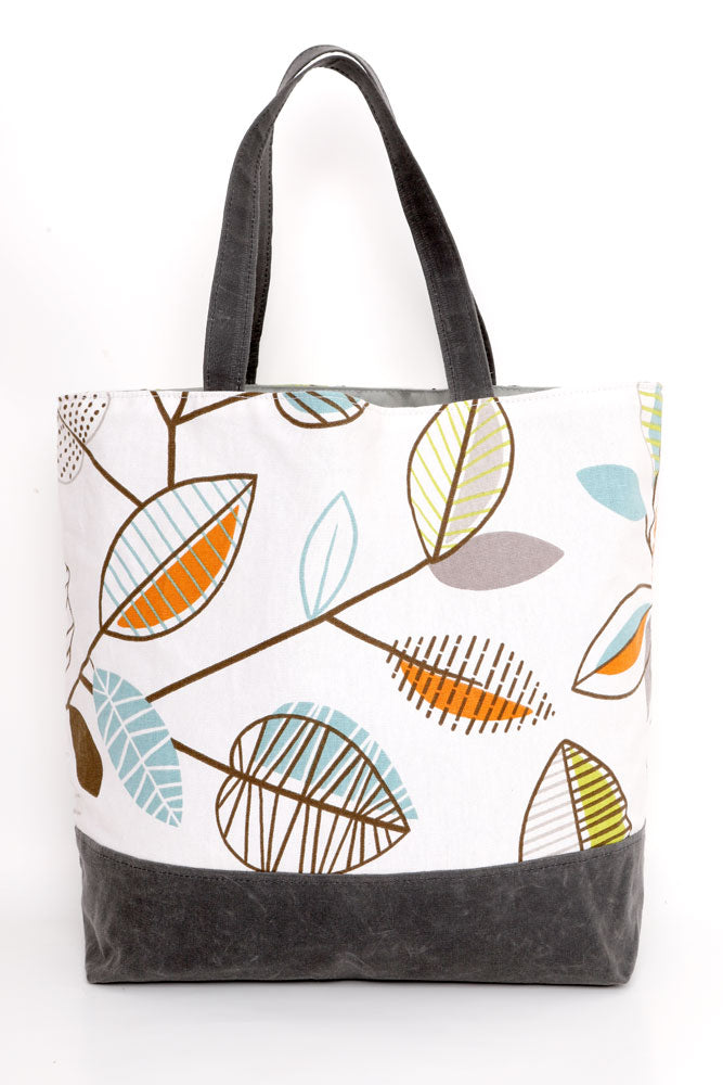 MARCELLE CANVAS TOTE LEAF - BROOKLYN INDUSTRIES