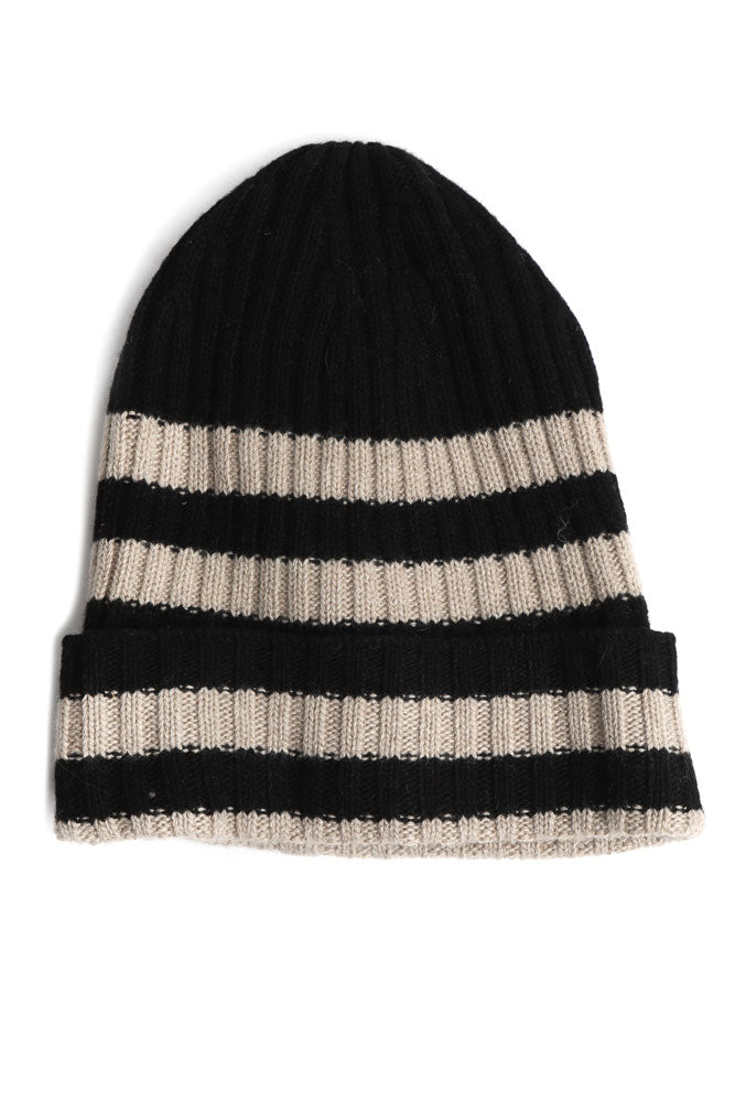 STRIPED ITALIAN BEANIE