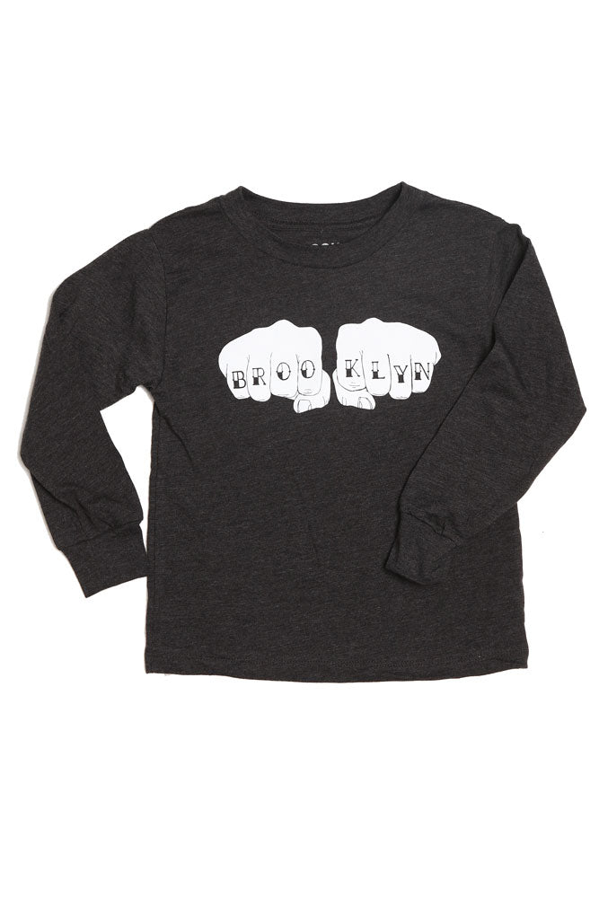 LONG SLEEVE BK KNUCKS T - BROOKLYN INDUSTRIES