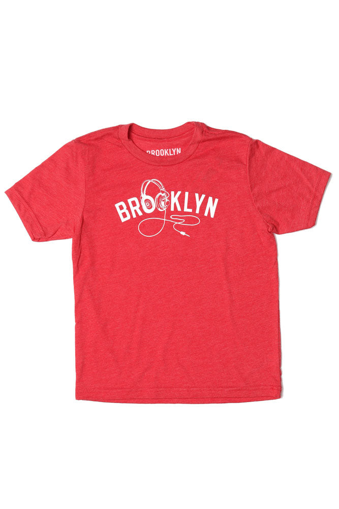 YOUTH SIZE BK PHONES T-SHIRT IN RED