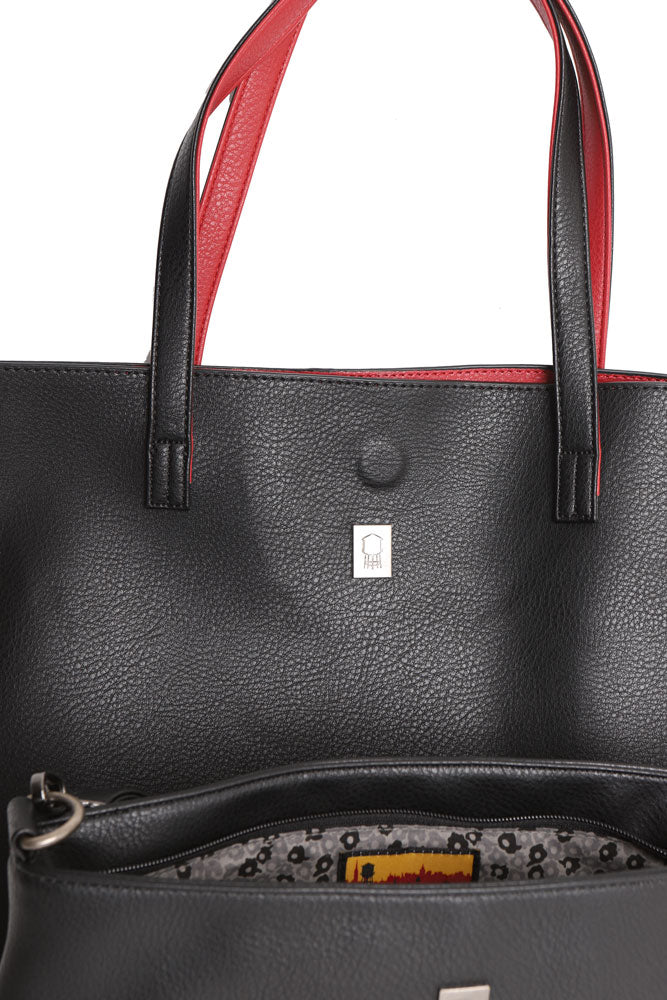 PEBBLE VEGAN TOTE BLACK - BROOKLYN INDUSTRIES