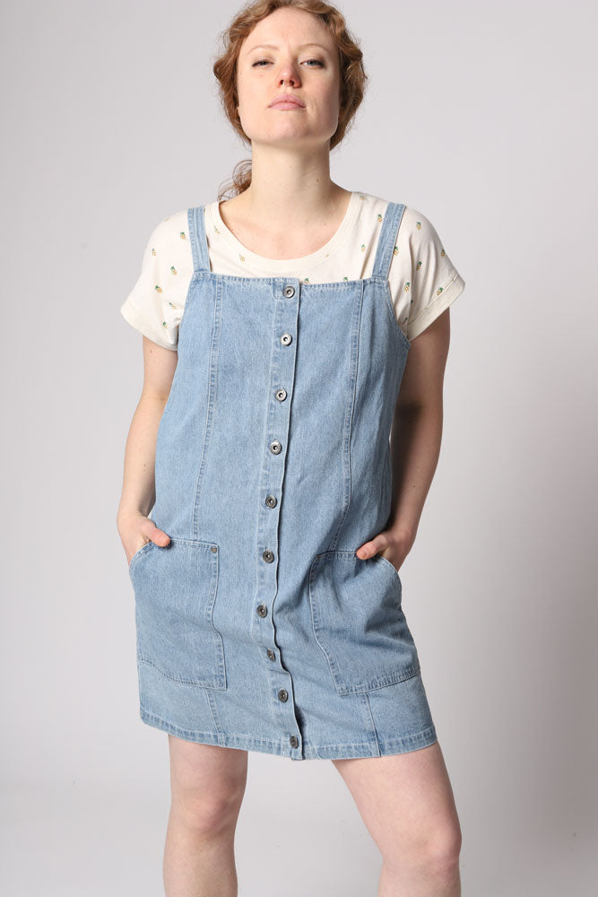 BLUE JEAN BABY JUMPER DRESS W - BROOKLYN INDUSTRIES