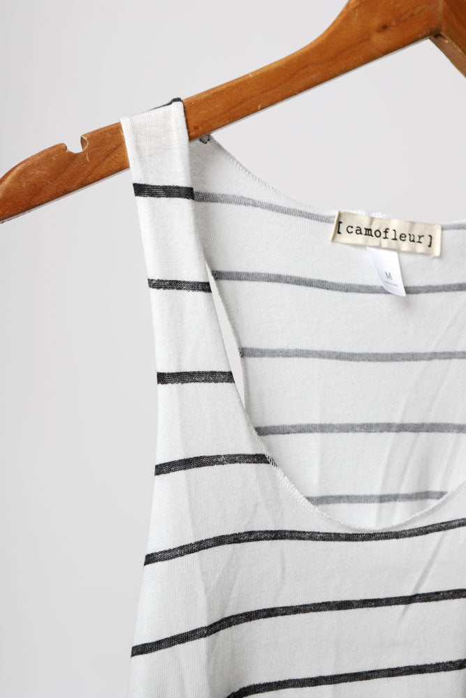 B&W STRIPE TANK W - BROOKLYN INDUSTRIES