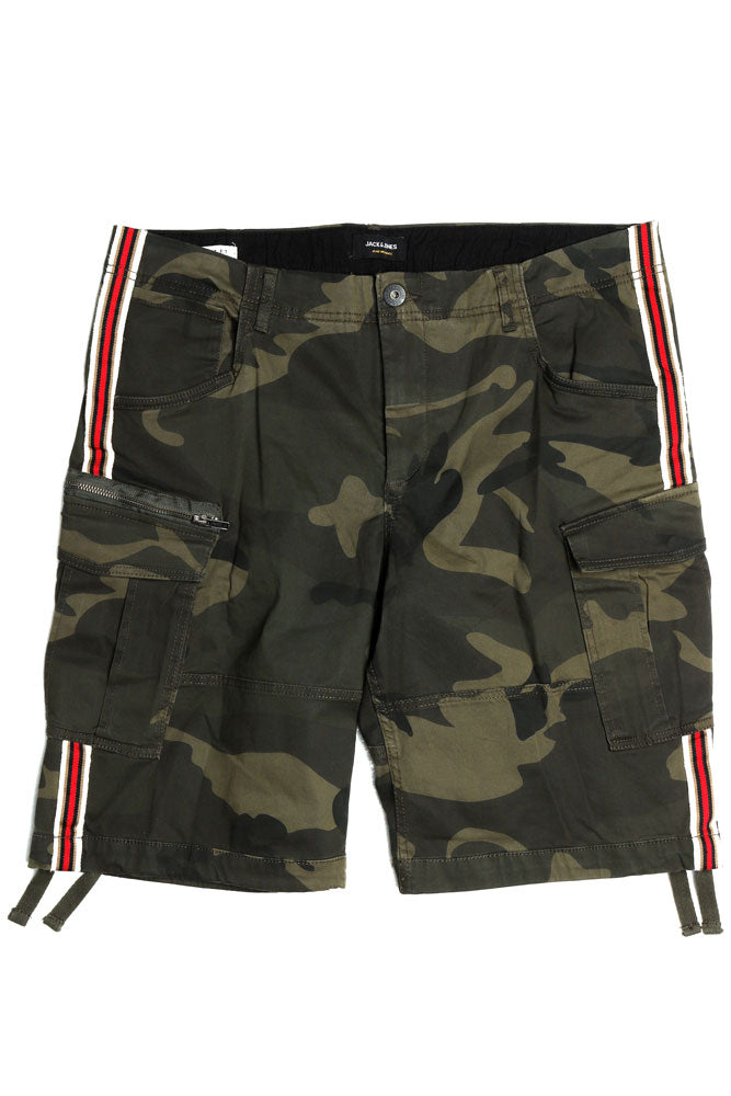 JJ CAMO CARGO SHORTS M - BROOKLYN INDUSTRIES