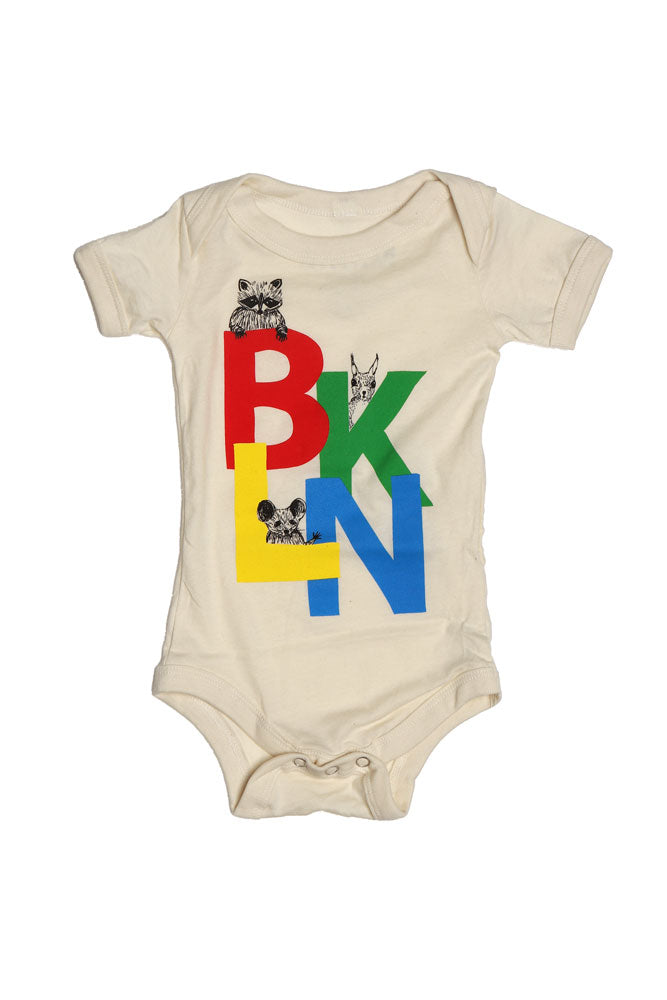 BK CRITTERS ONESIE B - BROOKLYN INDUSTRIES