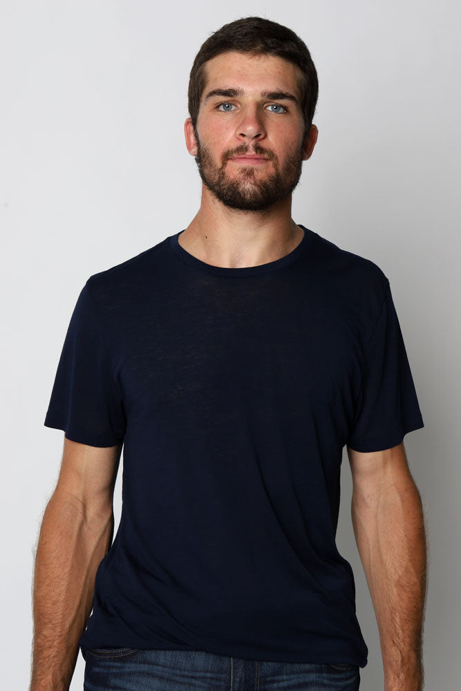 DOUBLE BURNOUT TEE MOOD INDIGO