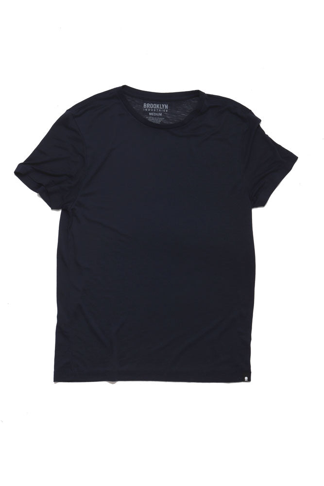 DOUBLE BURNOUT TEE MOOD INDIGO - BROOKLYN INDUSTRIES