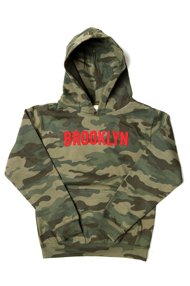 MID WEIGHT APPLIQUE HOODIE Y - BROOKLYN INDUSTRIES