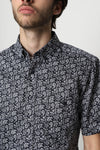 GRADO PAISLEY SHORT SLEEVE SHIRT M - BROOKLYN INDUSTRIES