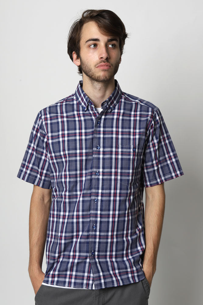 GRADO PLAID SHORT SLEEVE SHIRT M