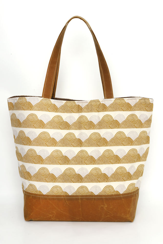 MARCELLE CANVAS TOTE HEADLANDS - BROOKLYN INDUSTRIES