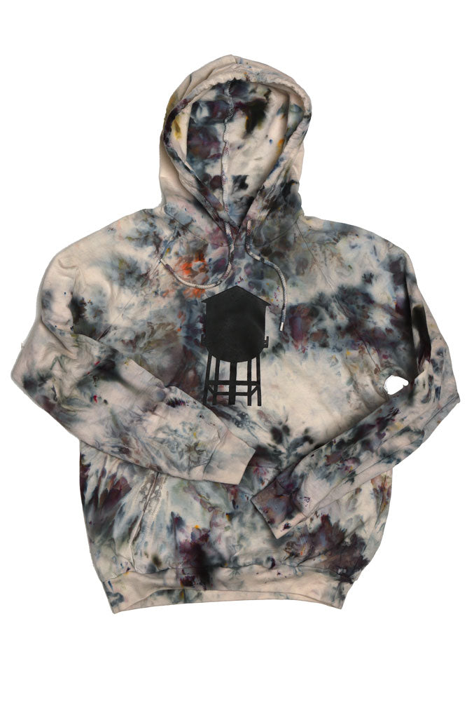 ORGANIC ICE DYE HOODIE M - BROOKLYN INDUSTRIES