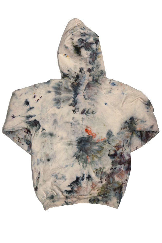 ORGANIC ICE DYE HOODIE W - BROOKLYN INDUSTRIES