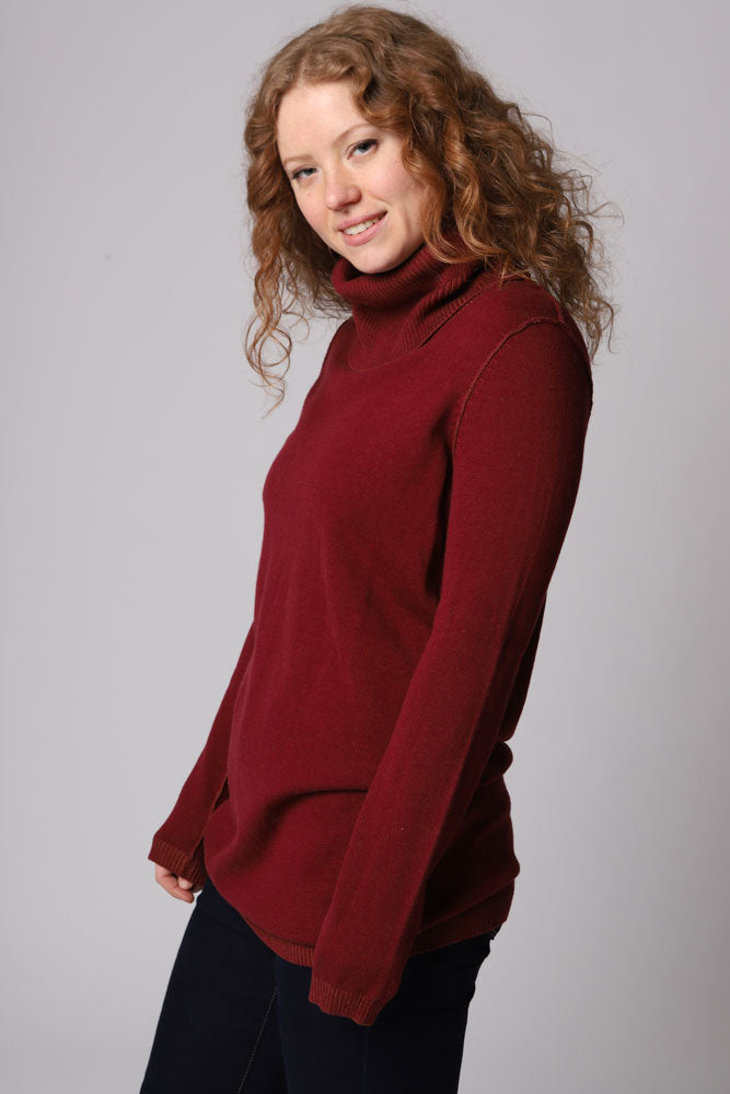 KELLEY FUNNEL NECK TUNIC W - BROOKLYN INDUSTRIES