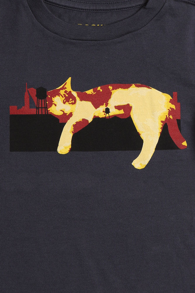 LAZY CAT T - BROOKLYN INDUSTRIES