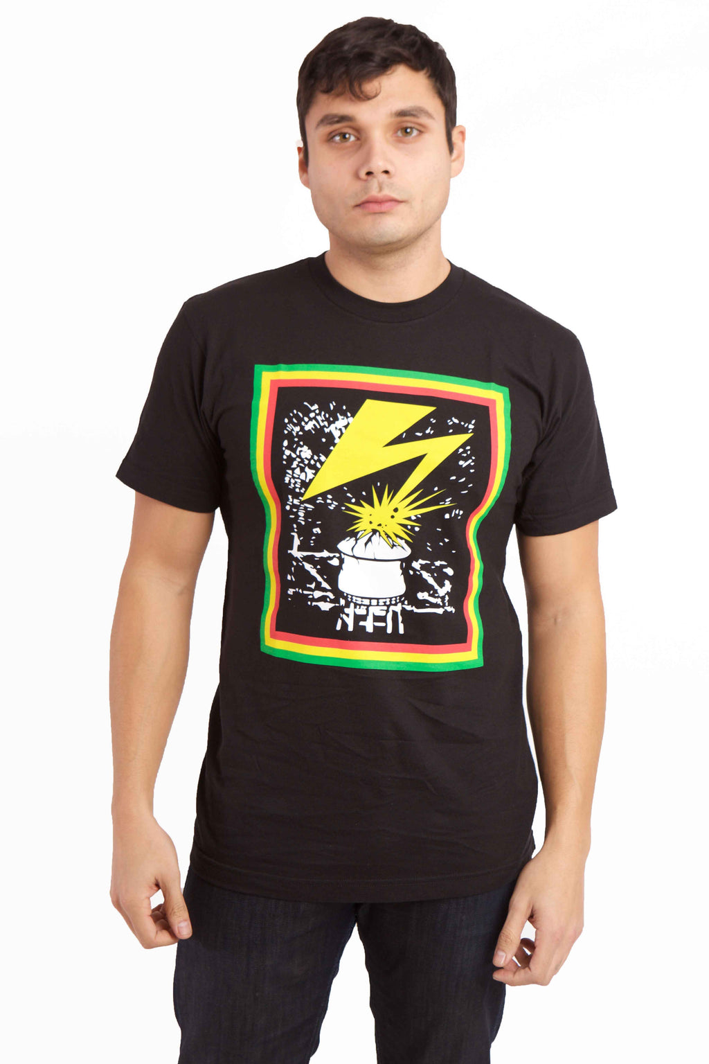 Lightening Graphic T-shirt Front Image 1
