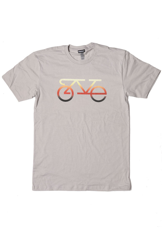 FLAT LAY SHIRT WITH L.O.V.E. SPELLED OUT IN THE FORM OF A BIKE
