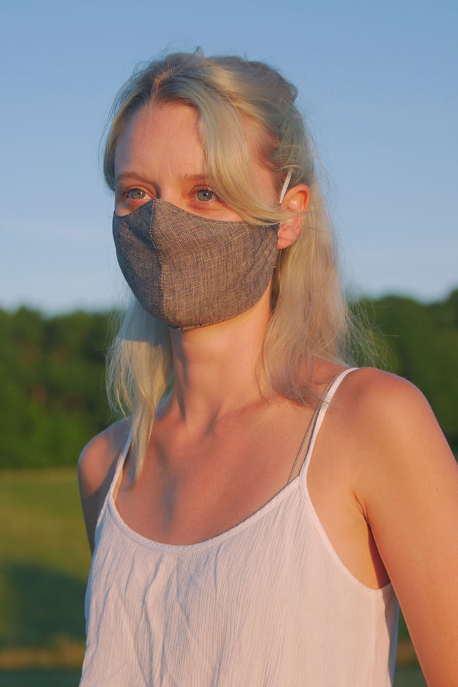 WATER TOWER LINEN FACE MASK - BROOKLYN INDUSTRIES