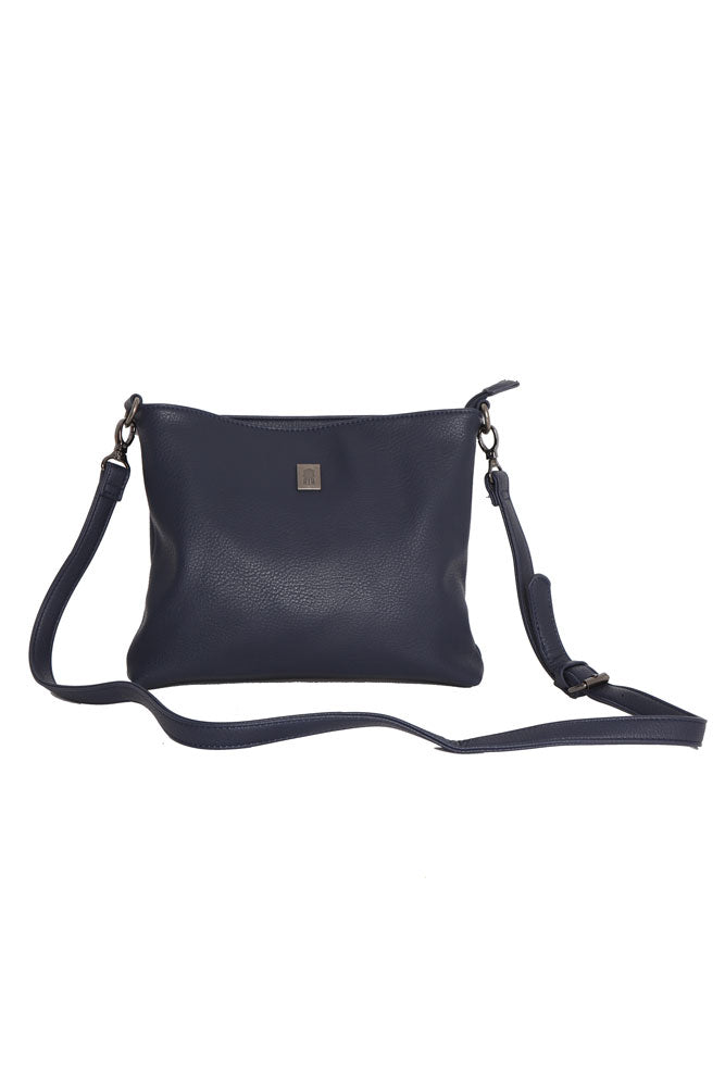 Crossbody vegan bag, in navy, that fits in the tote bag