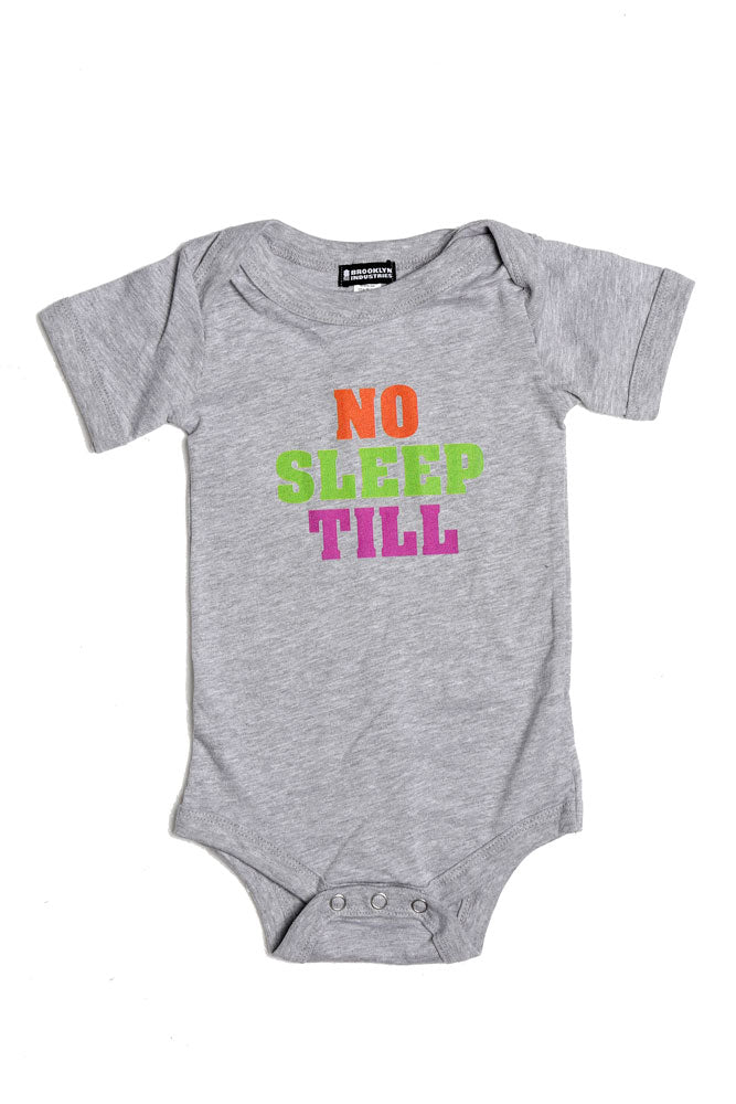 NO SLEEP TILL ONESIE - BROOKLYN INDUSTRIES