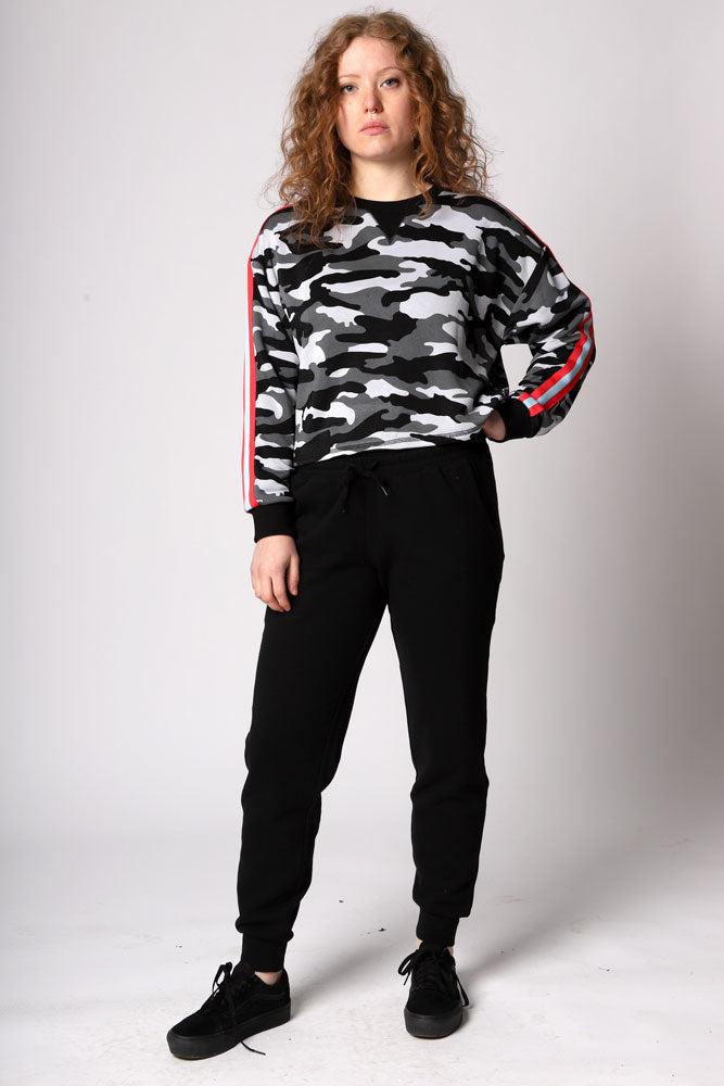 OVER THE RADAR CROP SWEATSHIRT W - BROOKLYN INDUSTRIES