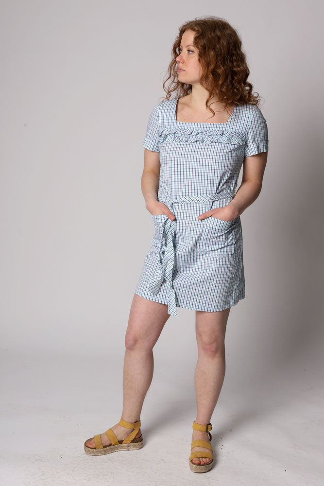 PLAID PICNIC DRESS W - BROOKLYN INDUSTRIES