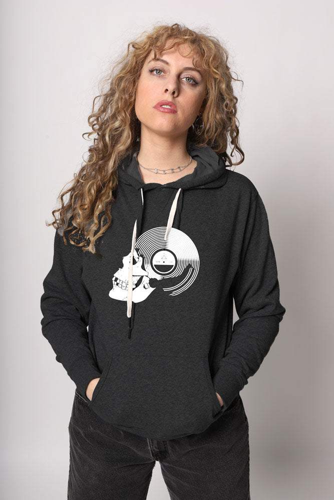 RECORD SKULL PULLOVER W - BROOKLYN INDUSTRIES