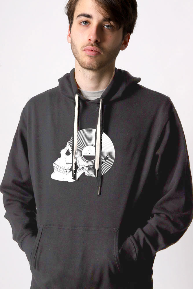 RECORD SKULL PULLOVER M - BROOKLYN INDUSTRIES