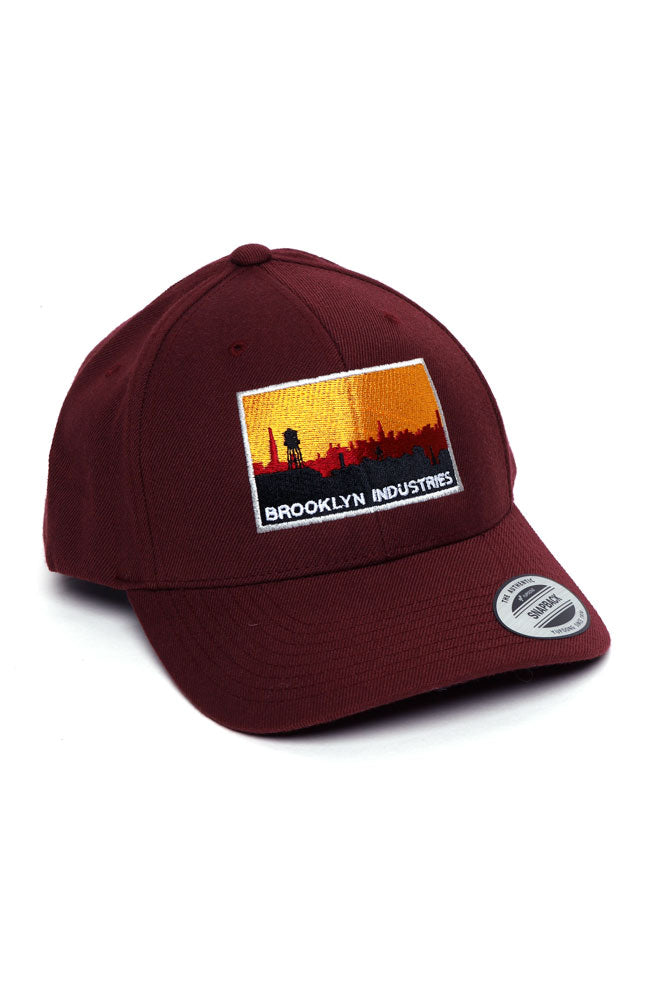 SKYLINE LOGO EMBROIDERY SNAP BACK - BROOKLYN INDUSTRIES