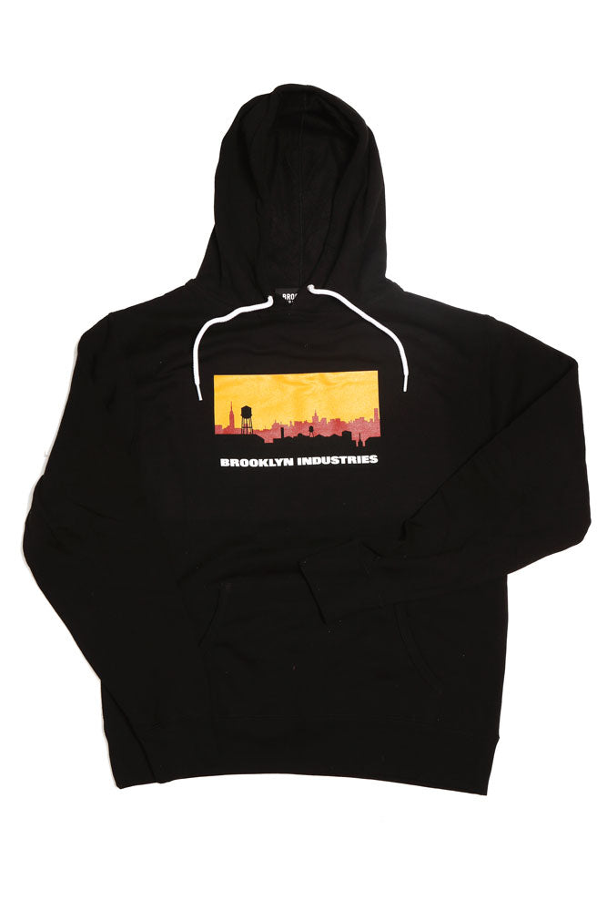 SKYLINE LOGO HOODIE M - BROOKLYN INDUSTRIES