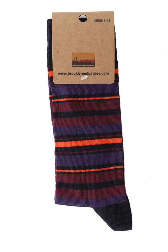 DARK STRIPE SOCK - BROOKLYN INDUSTRIES