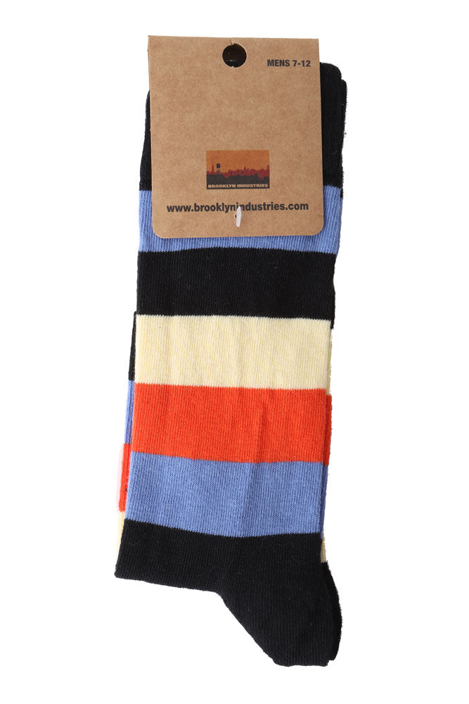STRIPE BLUE SOCK - BROOKLYN INDUSTRIES