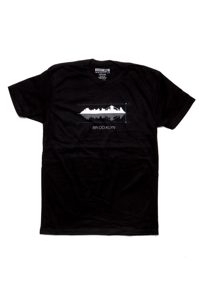 flat lay of the soundwave t-shirt for men