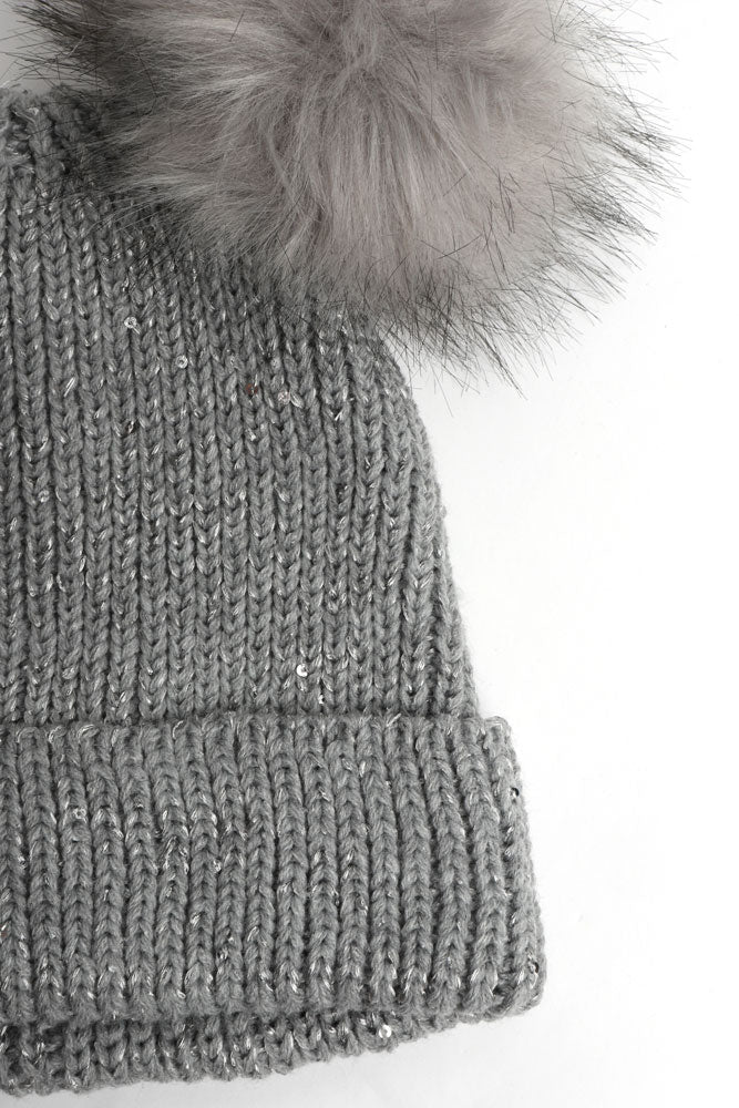 SPARKLE POM POM BEANIE - BROOKLYN INDUSTRIES