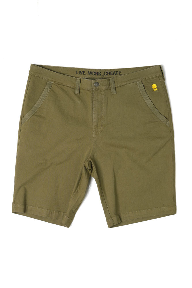 STUYVESANT SHORT DARK OLIVE M - BROOKLYN INDUSTRIES