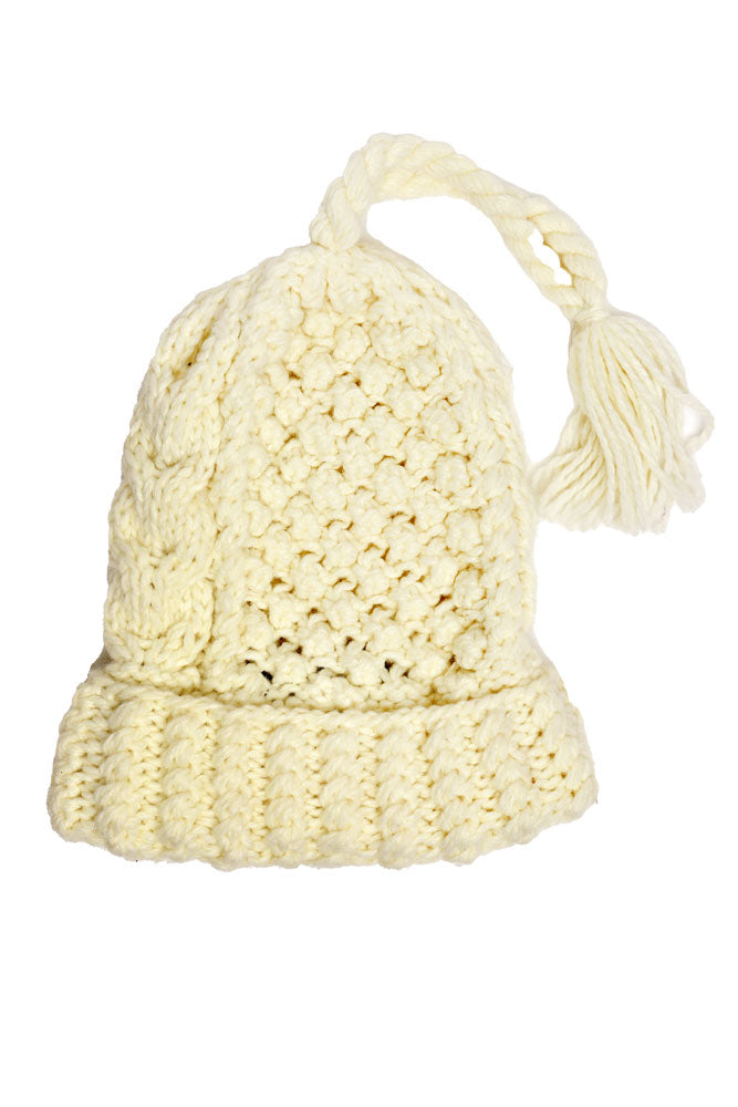 TASSEL BEANIE - BROOKLYN INDUSTRIES