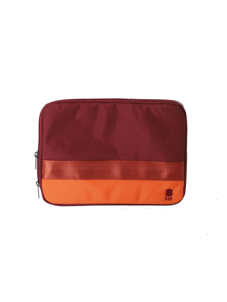 SMALL LINED TECH BAG IN REDS AND ORANGE