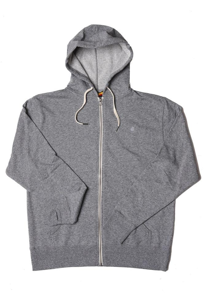 FLAT LAY FRENCH TERRY ZIP UP , GREY SWEATSHIRT, GREY TOWER EMBROIDERY