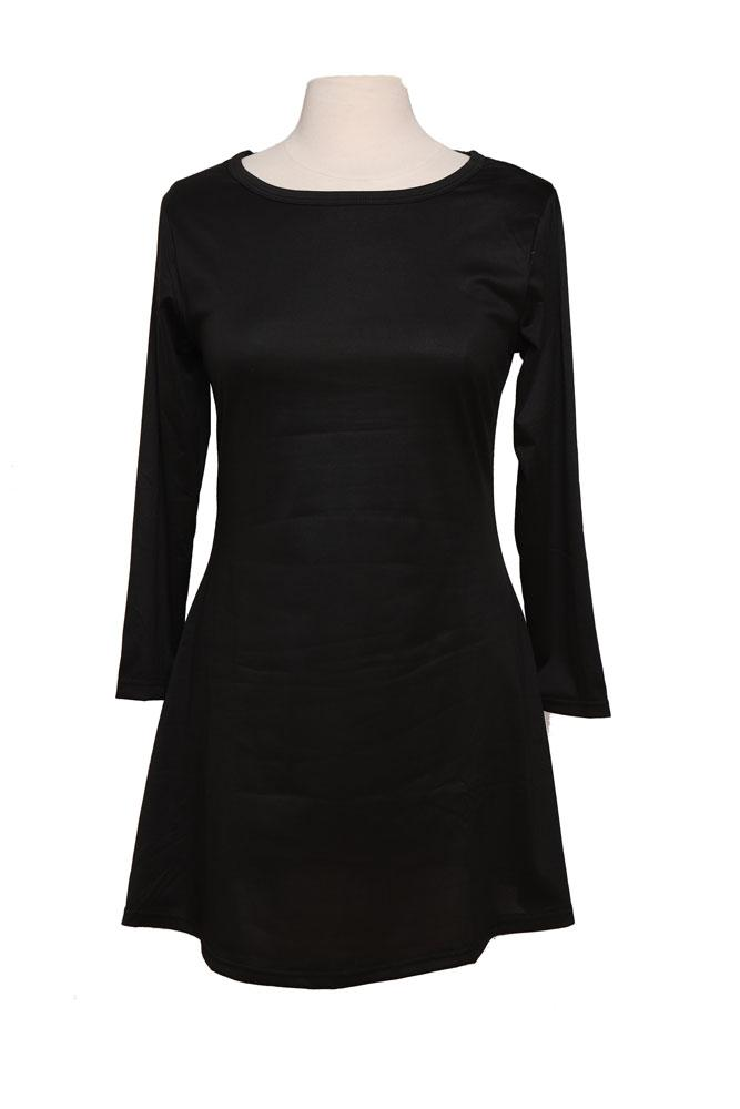 black tunic a line dress on form