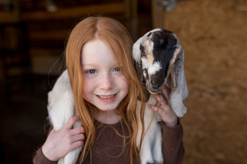 meysha and goat