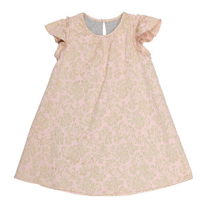 Pale Rose Jacquard Dress (No. 101, Fabric No. 14)