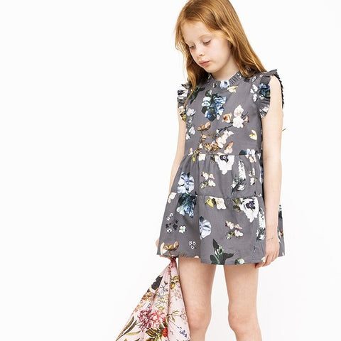 Smokey Floral Dress (No. 125, Fabric No. 29)