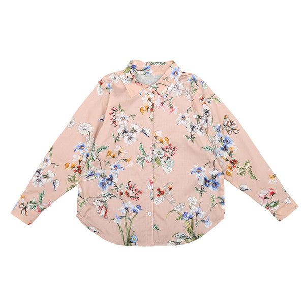 Floral Blouse (No. 414, Fabric No. 2)