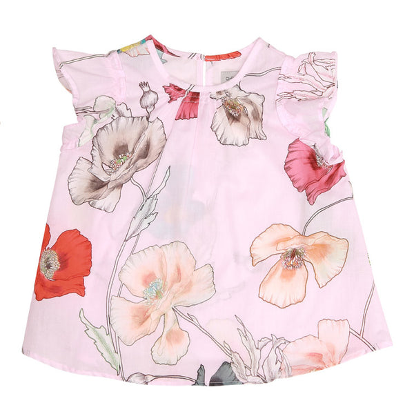 Pink Poppy Baby Top (No. 806, Fabric No. 13)