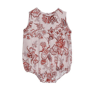 Scarlet Red Baby Romper (No. 812, Fabric No. 14)