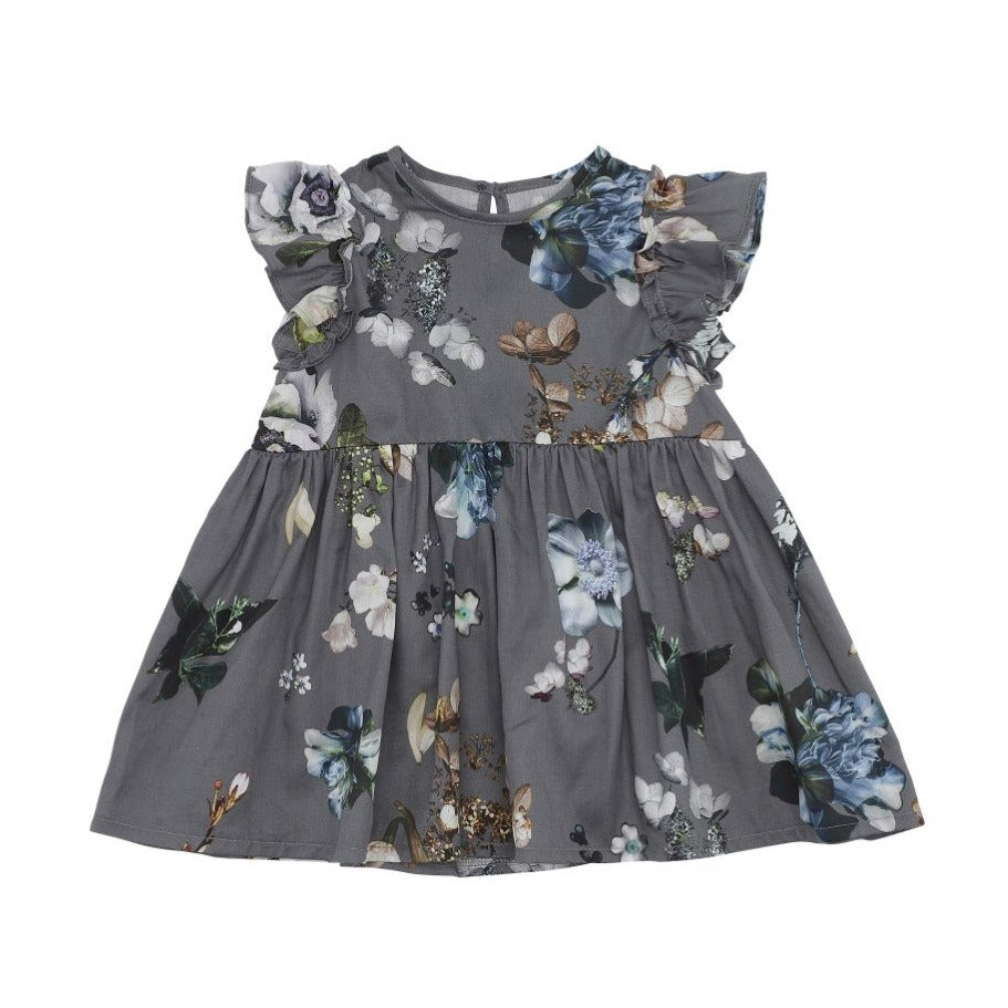 Smokey Floral Baby Dress (No. 841, Fabric No. 29)