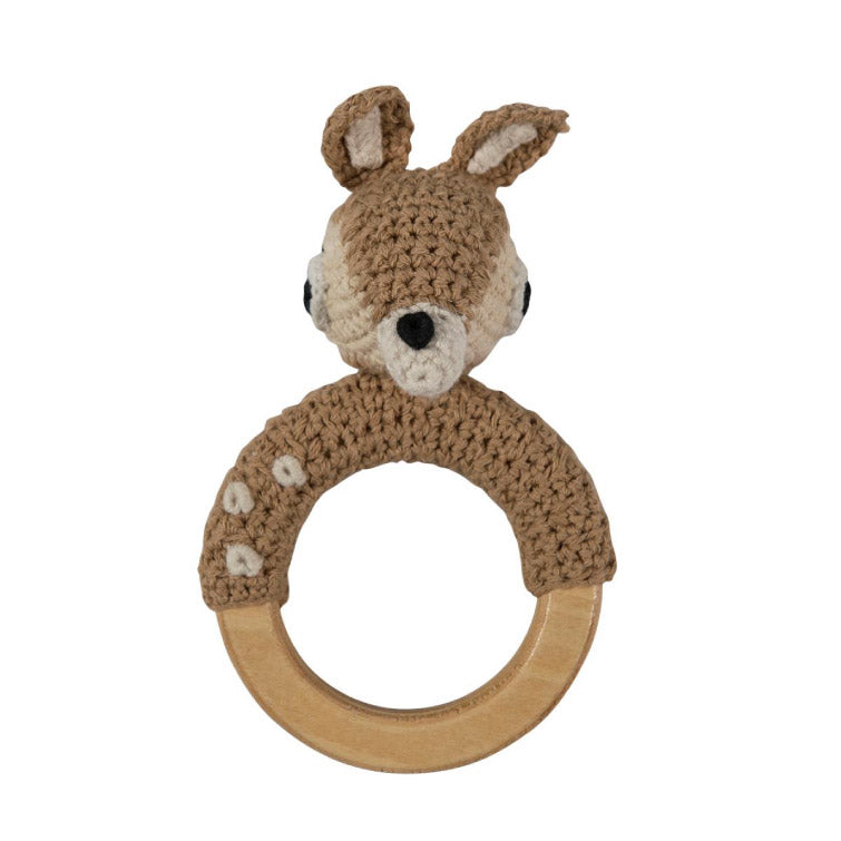 Crochet rattle on ring