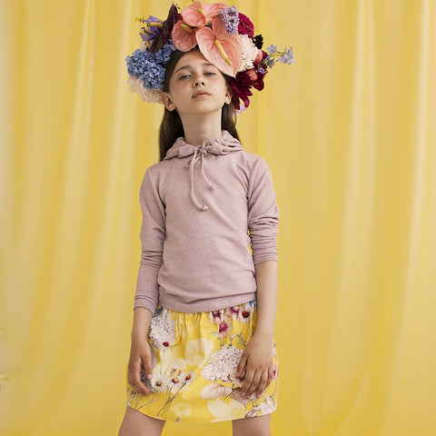 Yellow Flower Skirt (No. 202, Fabric No. 22)