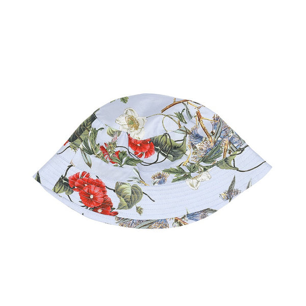 Light Blue Flower Jungle Hat (No. 716, Fabric No. 5)